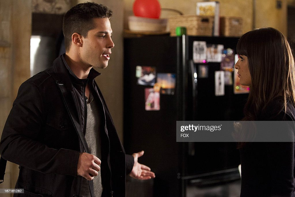 Lea Michele as 'Rachel' Dean Geyer as 'Brody' in the 'Guilty Pleasure' episode of GLEE airing Thursday March 21 2013 on FOX