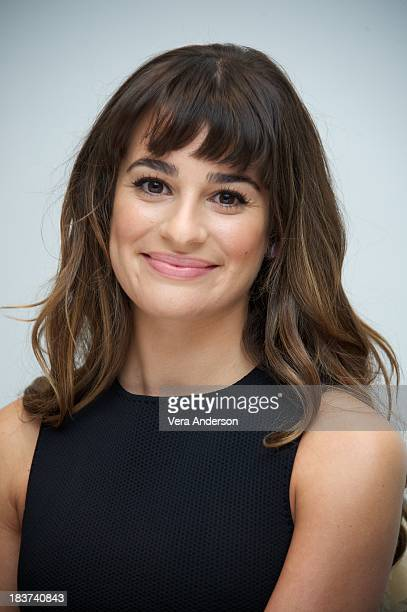 Lea Michele at the 'Glee' Press Conference at the Four Seasons Hotel on October 8 2013 in Beverly Hills California