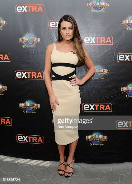 Lea Michele at Universal Studios Hollywood on March 2 2016 in Universal City California