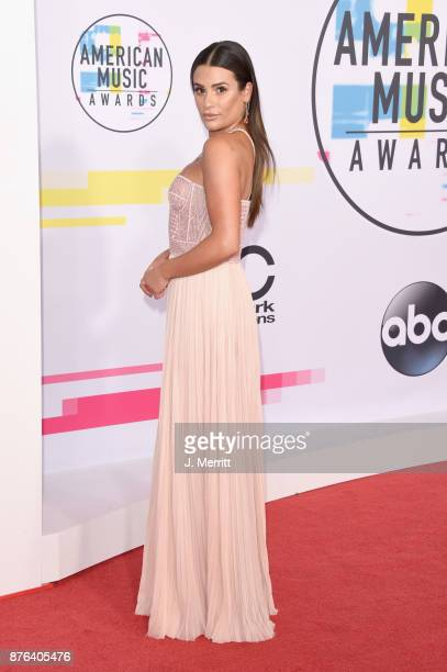 Lea Michele attends 2017 American Music Awards at Microsoft Theater on November 19 2017 in Los Angeles California