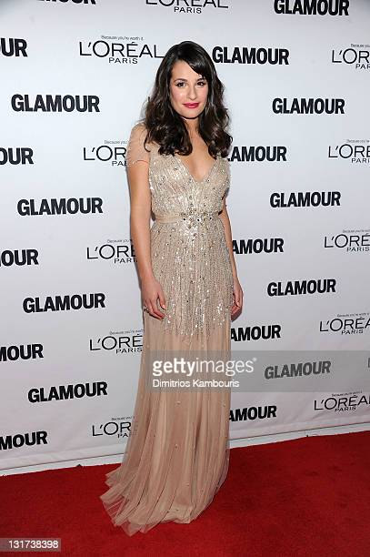 Lea Michele attends Glamour's 2011 Women of the Year Awards on November 7 2011 in New York City