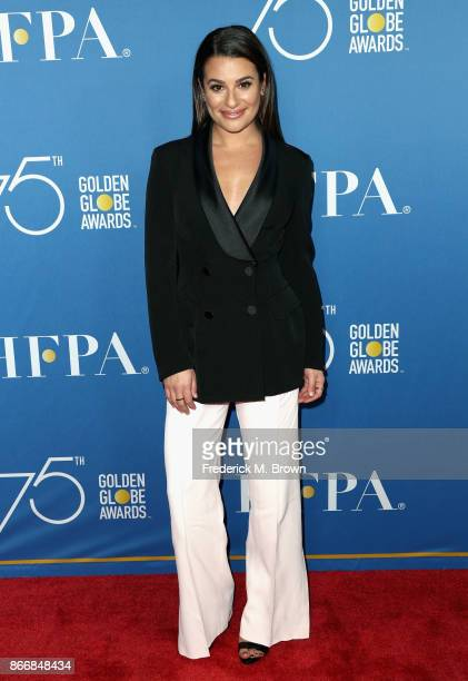 Lea Michele attends Hollywood Foreign Press Association Hosts Television Game Changers Panel Discussion at The Paley Center for Media on October 26...