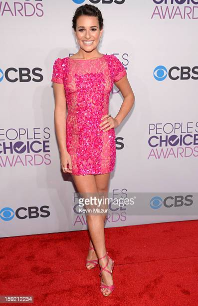 Lea Michele attends the 2013 People's Choice Awards at Nokia Theatre LA Live on January 9 2013 in Los Angeles California