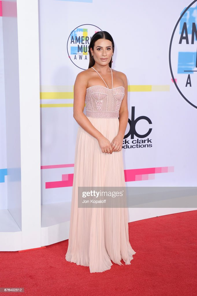 Lea Michele attends the 2017 American Music Awards at Microsoft Theater on November 19, 2017 in Los Angeles, California.