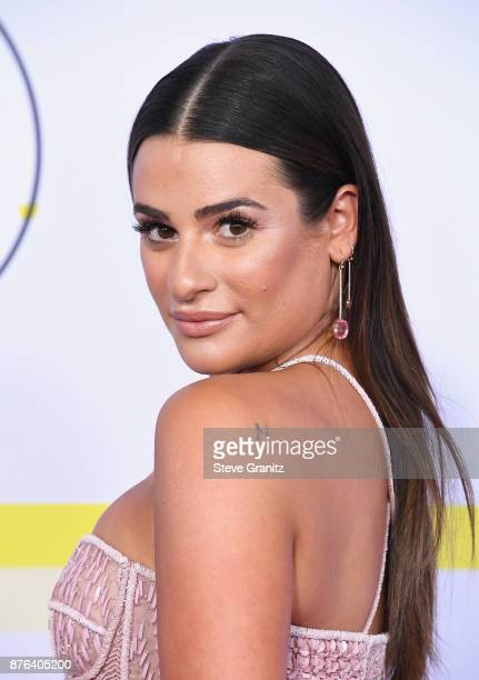 Lea Michele attends the 2017 American Music Awards at Microsoft Theater on November 19 2017 in Los Angeles California