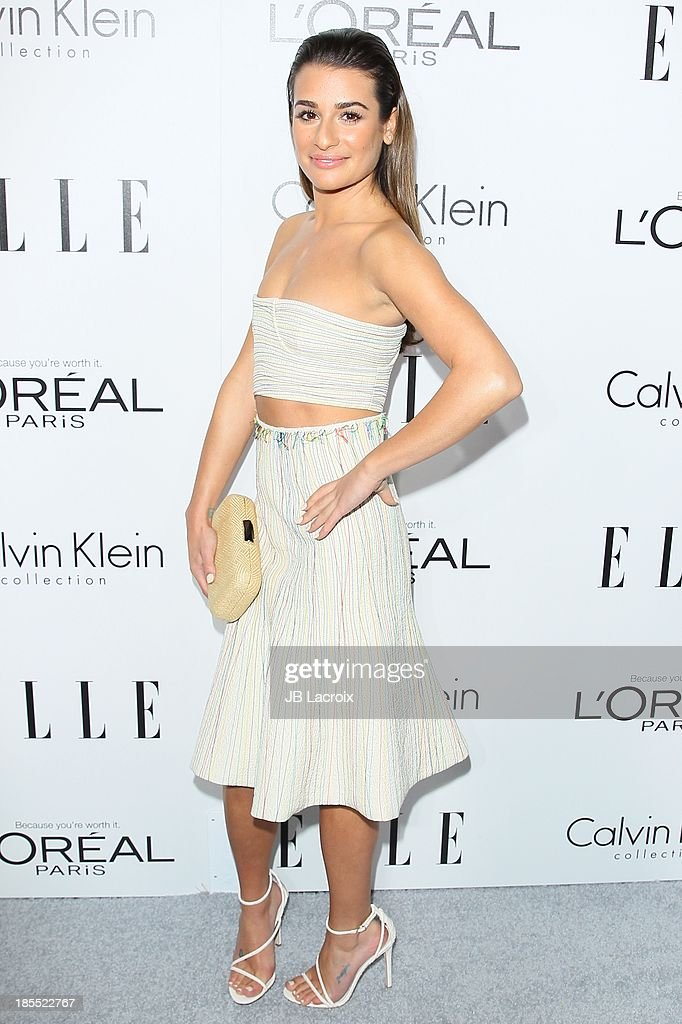 <a gi-track='captionPersonalityLinkClicked' href=/galleries/search?phrase=Lea+Michele&family=editorial&specificpeople=566514 ng-click='$event.stopPropagation()'>Lea Michele</a> attends the 20th Annual ELLE Women In Hollywood held at Four Seasons Hotel Los Angeles at Beverly Hills on October 21, 2013 in Beverly Hills, California.