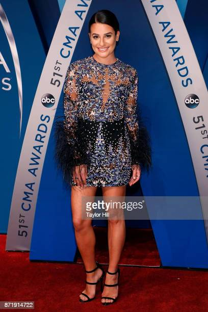 Lea Michele attends the 51st annual CMA Awards at the Bridgestone Arena on November 8 2017 in Nashville Tennessee