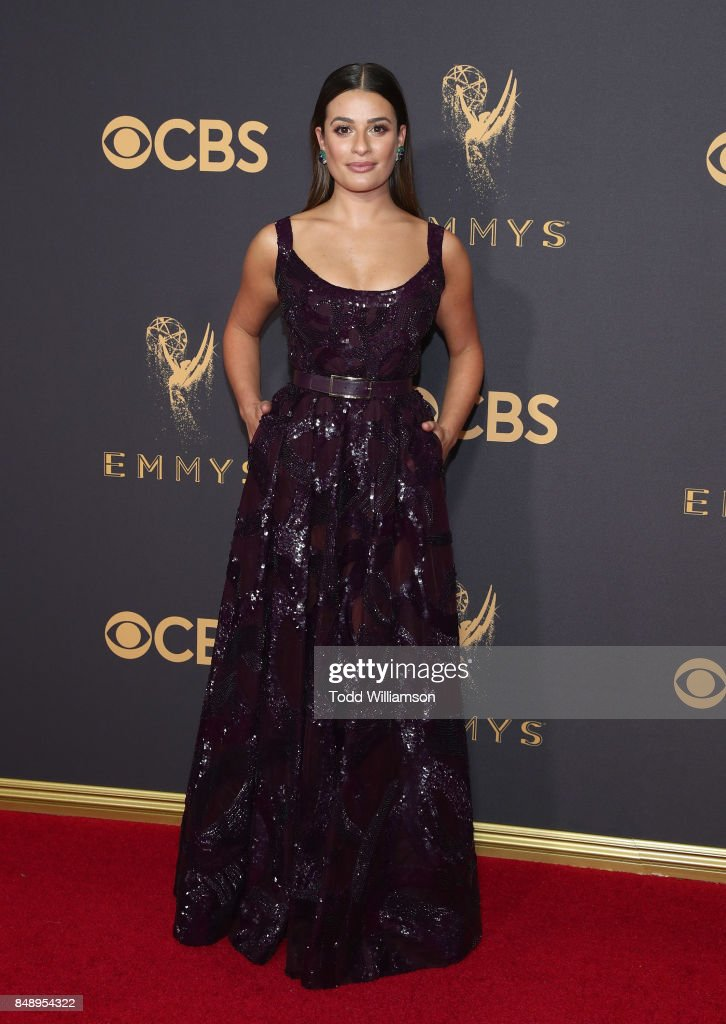 Lea Michele attends the 69th Annual Primetime Emmy Awards at Microsoft Theater on September 17, 2017 in Los Angeles, California.