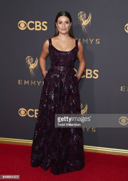 Lea Michele attends the 69th Annual Primetime Emmy Awards at Microsoft Theater on September 17 2017 in Los Angeles California