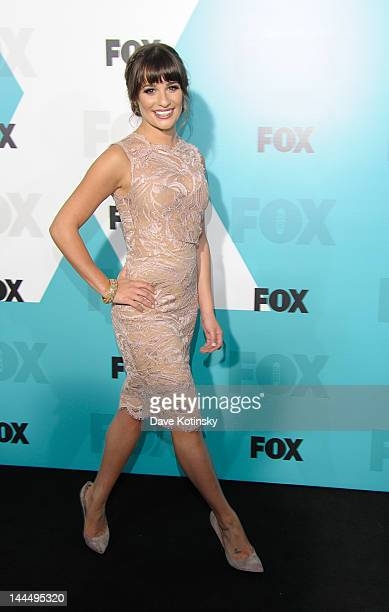 Lea Michele attends the Fox 2012 Programming Presentation PostShow Party at Wollman Rink Central Park on May 14 2012 in New York City