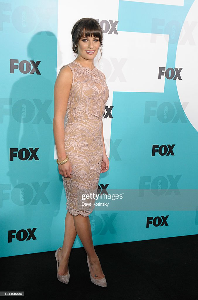 Lea Michele attends the Fox 2012 Programming Presentation Post-Show Party at Wollman Rink - Central Park on May 14, 2012 in New York City.
