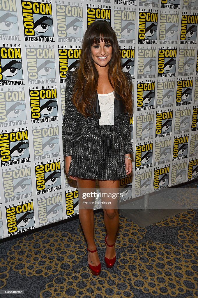 <a gi-track='captionPersonalityLinkClicked' href=/galleries/search?phrase=Lea+Michele&family=editorial&specificpeople=566514 ng-click='$event.stopPropagation()'>Lea Michele</a> attends the 'GLEE' Press Room during Comic-Con International 2012 held at the Hilton San Diego Bayfront Hotel on July 14, 2012 in San Diego, California.