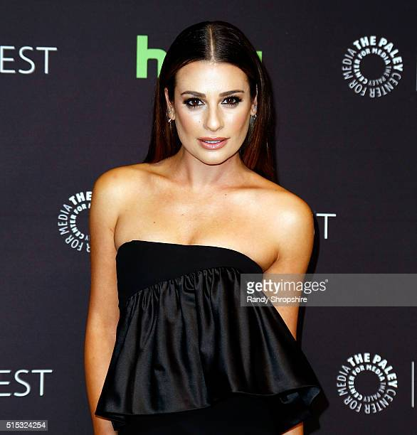Lea Michele attends The Paley Center for Media's 33rd Annual PaleyFest Los Angeles 'Scream Queens' at Dolby Theatre on March 12 2016 in Hollywood...
