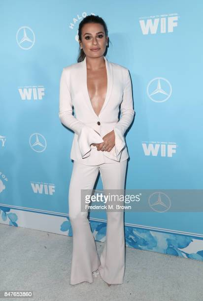 Lea Michele attends the Variety and Women In Film's 2017 PreEmmy Celebration at Gracias Madre on September 15 2017 in West Hollywood California