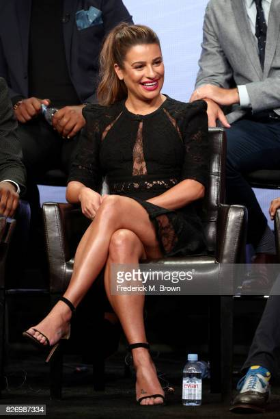 Lea Michele from 'The Mayor' speaks onstage during the Disney/ABC Television Group portion of the 2017 Summer Television Critics Association Press...