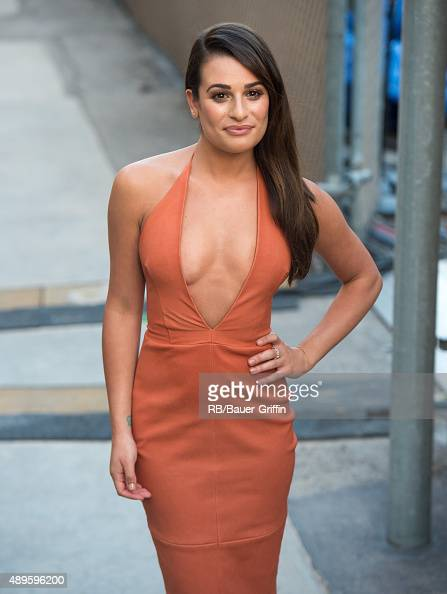 Lea Michele is seen at 'Jimmy Kimmel Live' on September 22 2015 in Los Angeles California