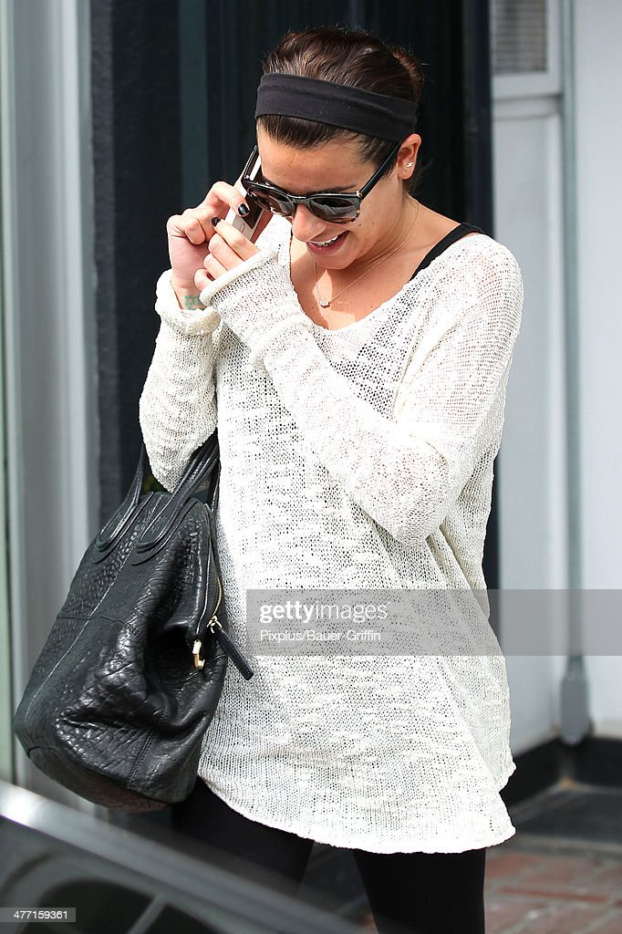 Lea Michele is seen on March 07, 2014 in Los Angeles, California.