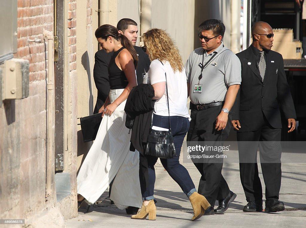 Lea Michele is seen on September 22 2015 in Los Angeles California