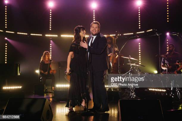 Lea Michele performs during 'The Late Late Show with James Corden' Tuesday March 14 2017 On The CBS Television Network