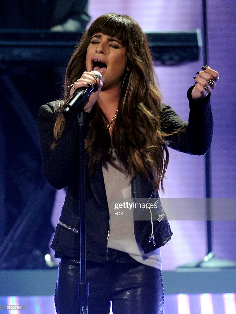 Lea Michele performs onstage on FOX's 'The X Factor' Season 3 Live Finale on December 19, 2013 in Hollywood, California.