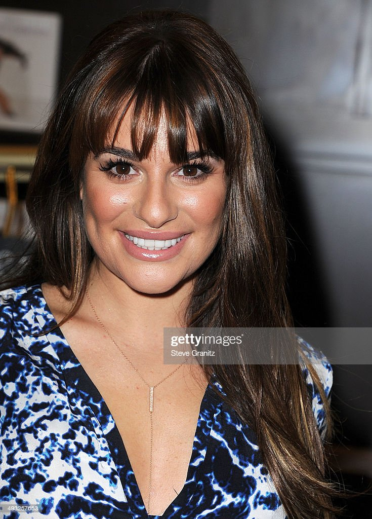 Lea Michele Signs Copies Of Her New Book 'Brunette Ambition' at Barnes & Noble bookstore at The Grove on May 22, 2014 in Los Angeles, California.