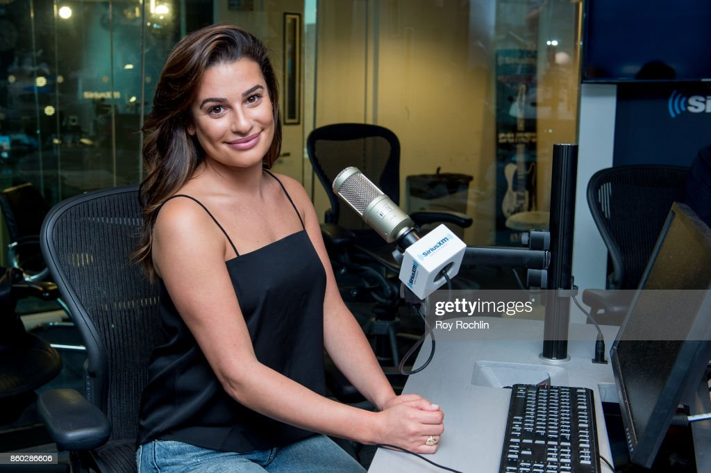 Lea Michele visits SiriusXM Studios on October 11, 2017 in New York City.