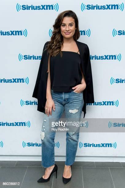 Lea Michele visits SiriusXM Studios on October 11 2017 in New York City