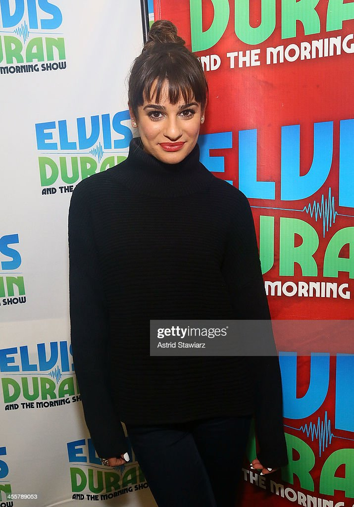 <a gi-track='captionPersonalityLinkClicked' href=/galleries/search?phrase=Lea+Michele&family=editorial&specificpeople=566514 ng-click='$event.stopPropagation()'>Lea Michele</a> visits the Elvis Duran z100 Morning Show at Z100 Studio on December 3, 2013 in New York City.