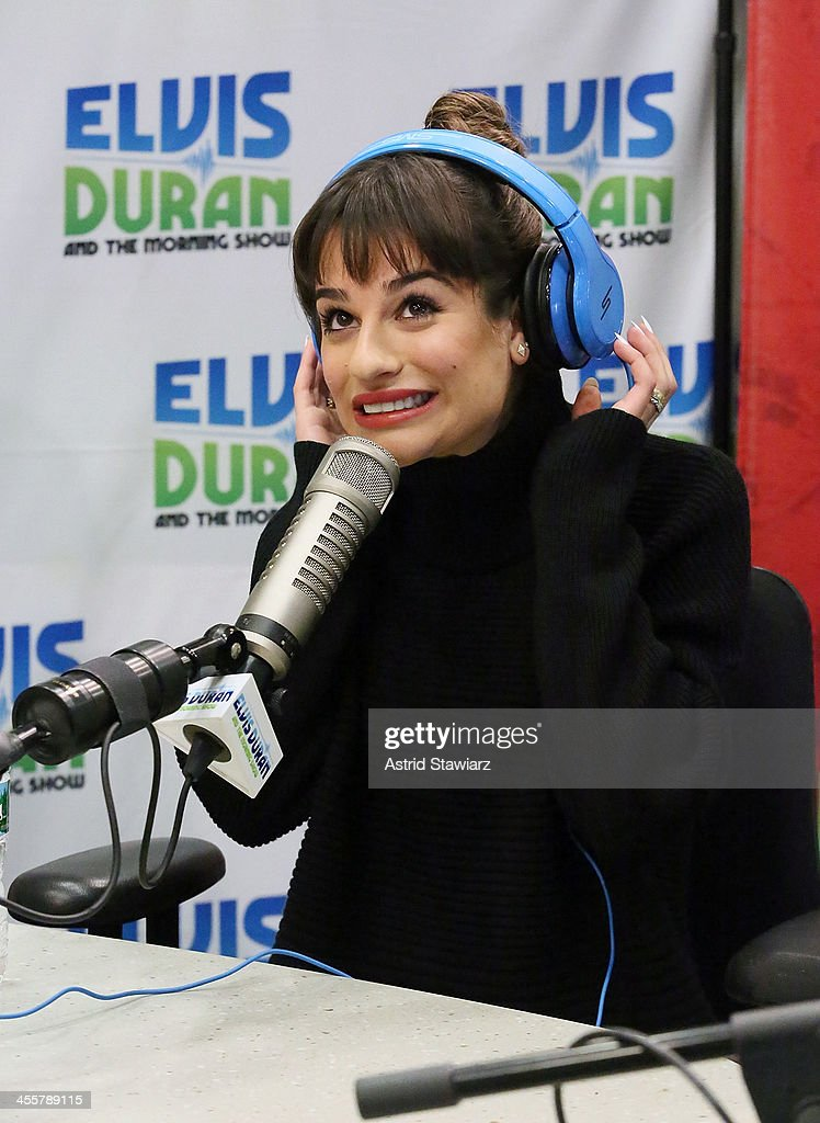 Lea Michele visits the Elvis Duran z100 Morning Show at Z100 Studio on December 3, 2013 in New York City.