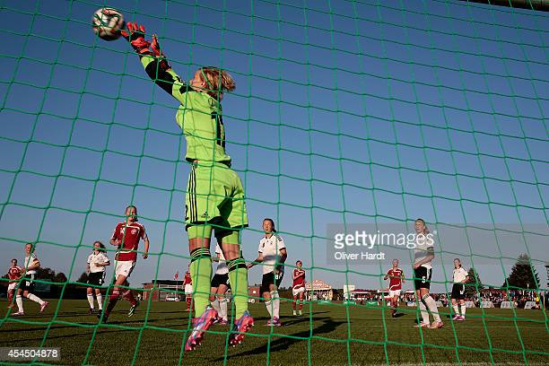 Lea Paulick of Germany during the international friendly match between U16 Girl's Germany and U16 Girl's Denmark on September 2 2014 in Malente...
