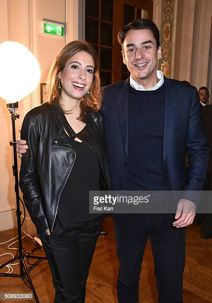 Lea Salame and a TV presenter attend the 'GQ Men Of The Year Awards 2015' as part of Paris Fashion Week on January 25 2016 in Paris France