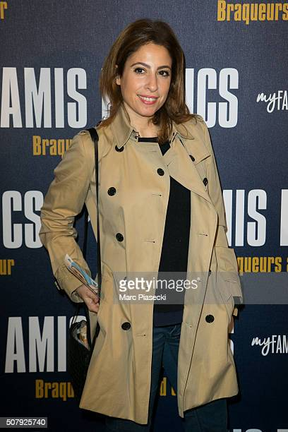 Lea Salame attends the 'Amis Publics' premiere at Cinema UGC Normandie on February 1 2016 in Paris France