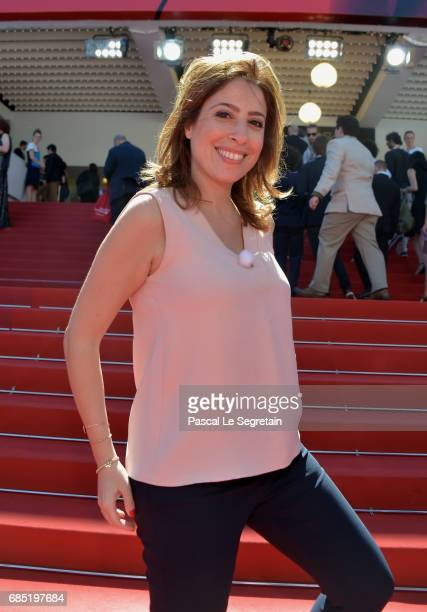 Lea Salame attends the 'Faces Places ' screening during the 70th annual Cannes Film Festival at Palais des Festivals on May 19 2017 in Cannes France