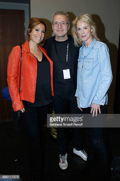 Lea Salame pregnant Laurent Ruquier and Vanessa Burggraf attend Michael Gregorio performs for his 10 years of Career at AccorHotels Arena on December...