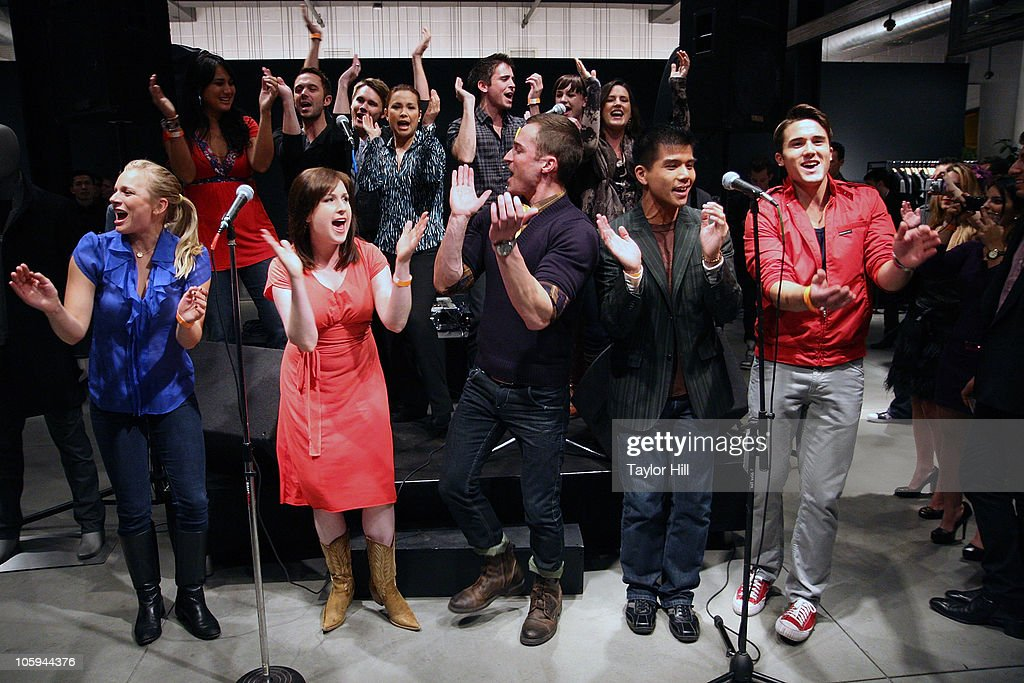 Lea Salonga and Broadway performers sing 'It Gets Better' during the Trevor's Fall Fete at Theory Flagship Store on October 21, 2010 in New York City.