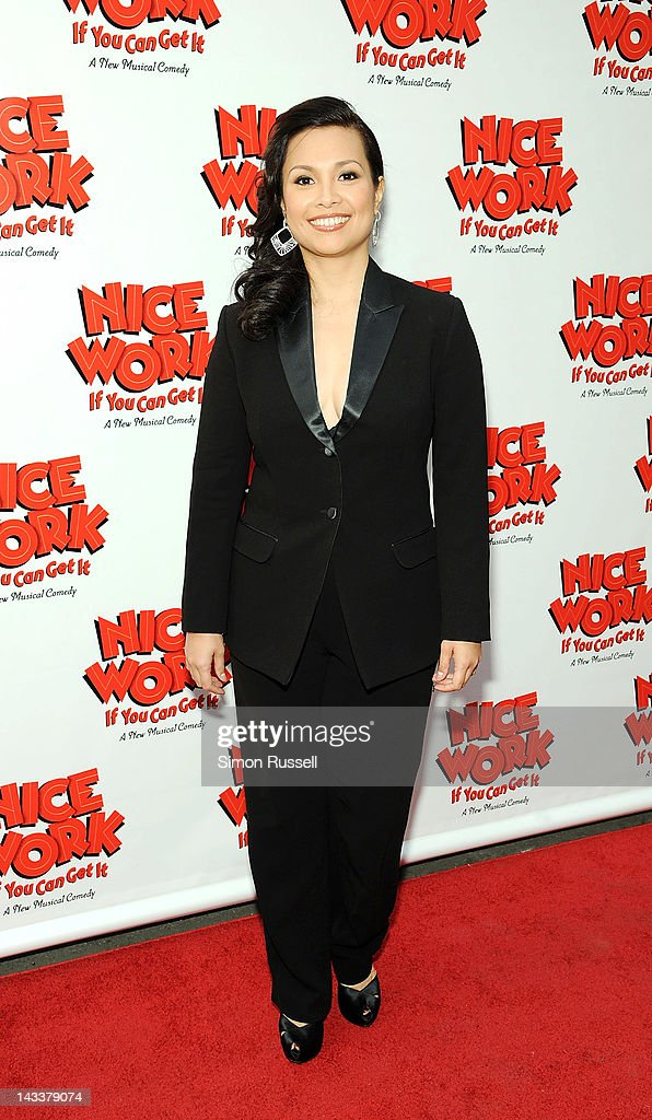 Lea Salonga attends the 'Nice Work If You Can Get It' Broadway opening night at the Imperial Theatre on April 24, 2012 in New York City.