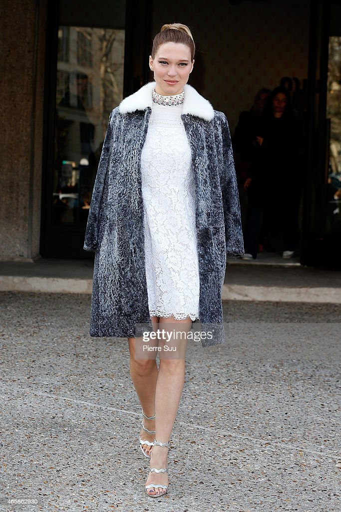 Lea Seydiux attends the Miu Miu Show Paris Fashion Week Fall Winter 2015/2016 on March 11 2015 in Paris France