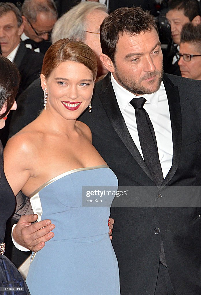 Lea Seydoux and Denis Menochet attend the Premiere of 'Jimmy P. (Psychotherapy Of A Plains Indian)' at Palais des Festivals during The 66th Annual Cannes Film Festival on May 18, 2013 in Cannes, France.