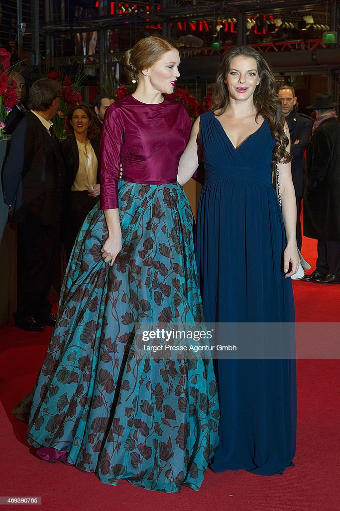 Lea Seydoux and <a gi-track='captionPersonalityLinkClicked' href=/galleries/search?phrase=Yvonne+Catterfeld&family=editorial&specificpeople=228473 ng-click='$event.stopPropagation()'>Yvonne Catterfeld</a> attend the 'La belle et la bete' (Die Schoene und das Biest) premiere during 64th Berlinale International Film Festival at Berlinale Palast on February 14, 2014 in Berlin, Germany.