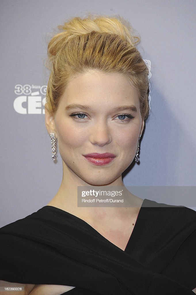 Lea Seydoux arrives at Cesar Film Awards 2013 at Theatre du Chatelet on February 22, 2013 in Paris, France.