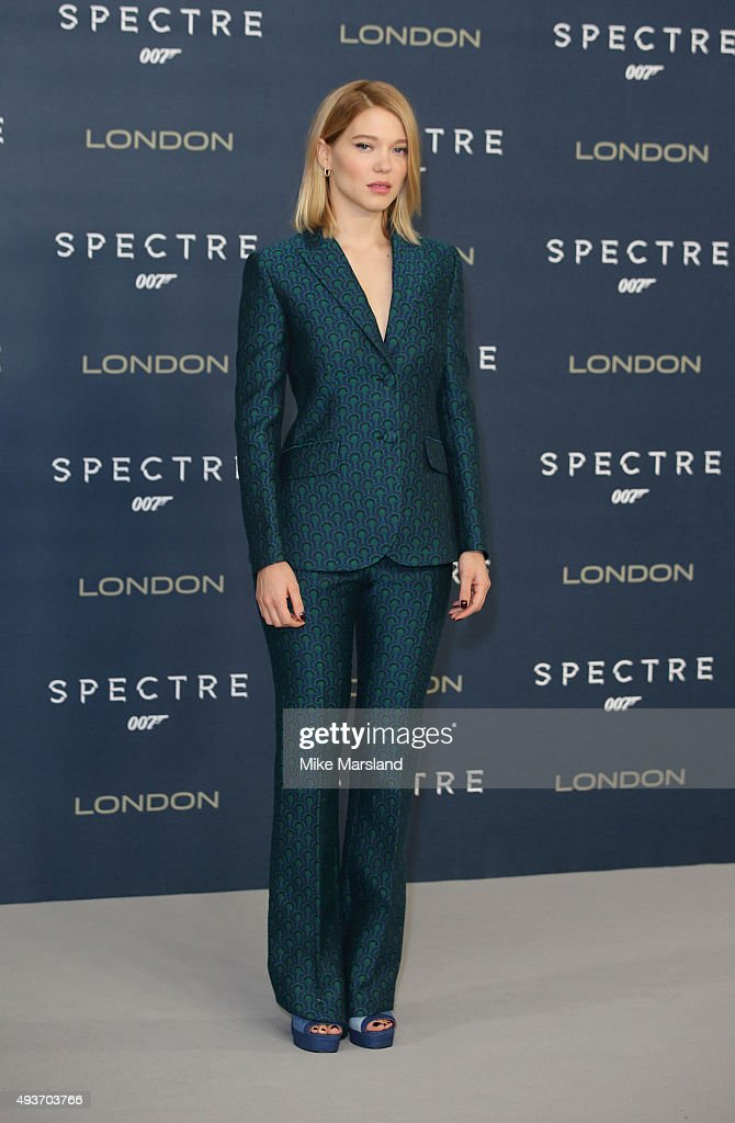 <a gi-track='captionPersonalityLinkClicked' href=/galleries/search?phrase=Lea+Seydoux&family=editorial&specificpeople=4398974 ng-click='$event.stopPropagation()'>Lea Seydoux</a> attends a photocall for 'Spectre' at Corinthia Hotel London on October 22, 2015 in London, England.
