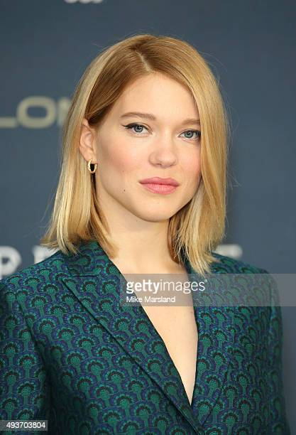 Lea Seydoux attends a photocall for 'Spectre' at Corinthia Hotel London on October 22 2015 in London England