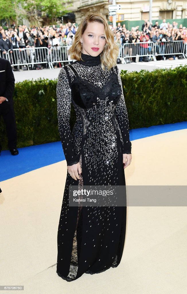 Lea Seydoux attends 'Rei Kawakubo/Comme des Garcons: Art Of The In-Between' Costume Institute Gala at Metropolitan Museum of Art on May 1, 2017 in New York City.