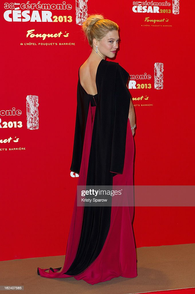 Lea Seydoux attends the Cesar Film Awards 2013 at Le Fouquet's on February 22, 2013 in Paris, France.