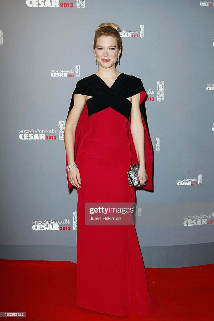 Lea Seydoux attends the Cesar Film Awards 2013 at Theatre du Chatelet on February 22, 2013 in Paris, France.