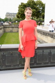 Lea Seydoux attends the Christian Dior show as part of Paris Fashion Week HauteCouture Fall/Winter 20132014 at Hotel Des Invalides on July 1 2013 in...