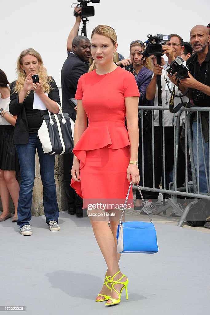Lea Seydoux attends the Christian Dior show as part of Paris Fashion Week Haute Couture Fall/Winter 2013-2014 at on July 1, 2013 in Paris, France.