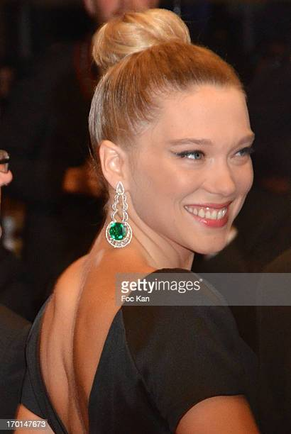 Lea Seydoux attends the 'La Vie D'Adele Chapitre 1 2 Blue Is The Warmest Color' Premiere The 66th Annual Cannes Film Festival Day 9 at Palais des...