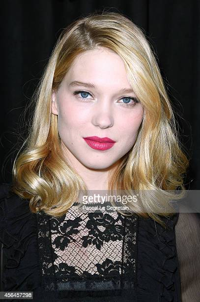 Lea Seydoux attends the Miu Miu show as part of the Paris Fashion Week Womenswear Spring/Summer 2015 on October 1 2014 in Paris France
