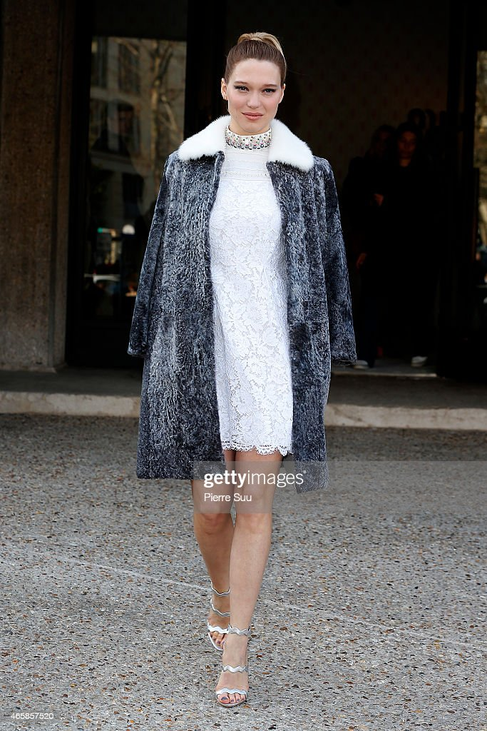 <a gi-track='captionPersonalityLinkClicked' href=/galleries/search?phrase=Lea+Seydoux&family=editorial&specificpeople=4398974 ng-click='$event.stopPropagation()'>Lea Seydoux</a> attends the Miu Miu show as part of the Paris Fashion Week Womenswear Fall/Winter 2015/2016 on March 11, 2015 in Paris, France.